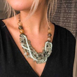 Jewelry - Glass Beaded Statement Necklace